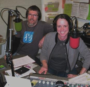 KWMR's Mike Varley and Amanda Eichstaedt